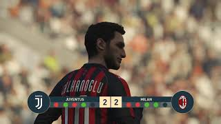 JUVENTUS vs MILAN | Italian Cup | PEnALTY SHOOTOUT | PES 2019