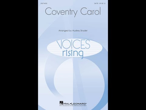 Coventry Carol - Arranged by Audrey Snyder