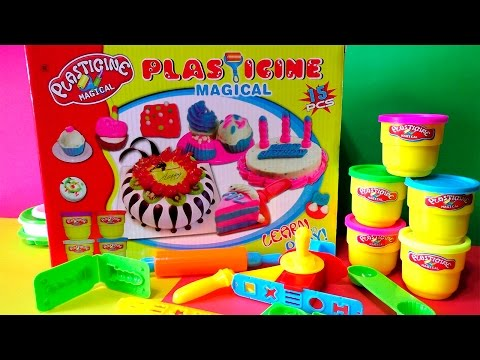 Plasticine Magical Cake Playset Review Play Doh Learn and Play
