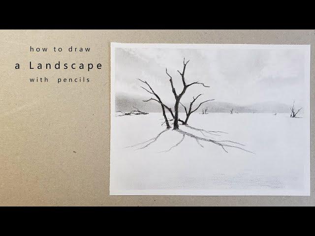 как нарисовать пейзаж draw a landscape