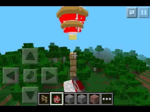 Minecraft PE-how to make a tornado - YouTube