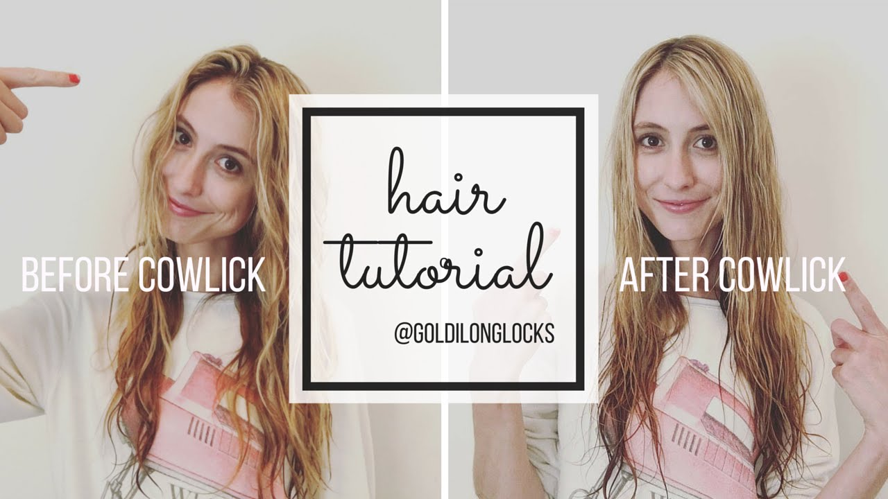 tutorial | how to get rid of your stubborn front cowlick with a hair dryer | goldilonglocks