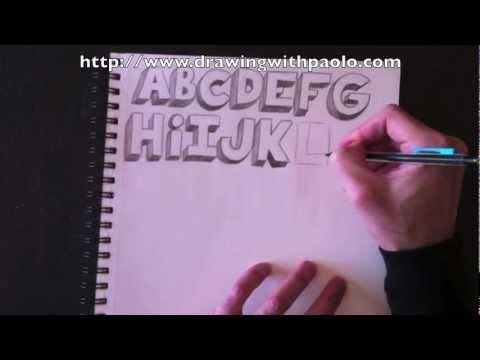 Dessiner l'alphabet 3D avec Paolo Morrone