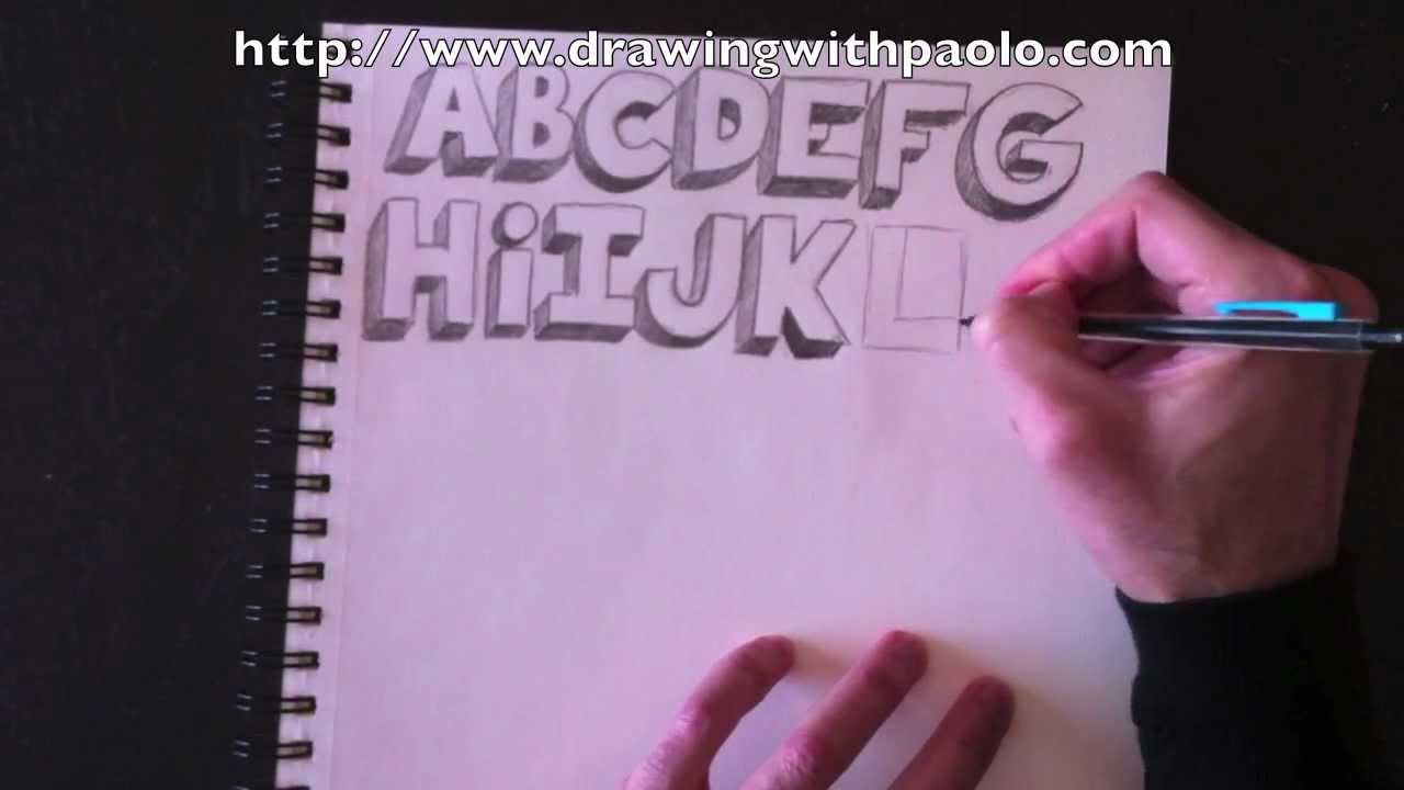 dessiner l 39 alphabet 3d avec paolo morrone youtube. Black Bedroom Furniture Sets. Home Design Ideas