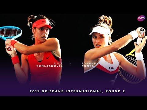 Johanna Konta vs. Ajla Tomljanovic   2019 Brisbane International Second Round   WTA Highlights