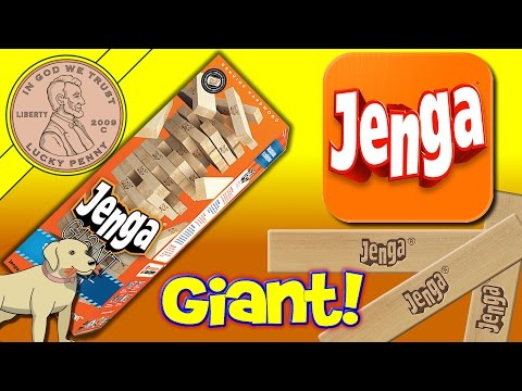 Jenga® Giant Genuine Hardwood Edition Family Game Time! Butch Gets Crushed Under Giant Jenga Blocks