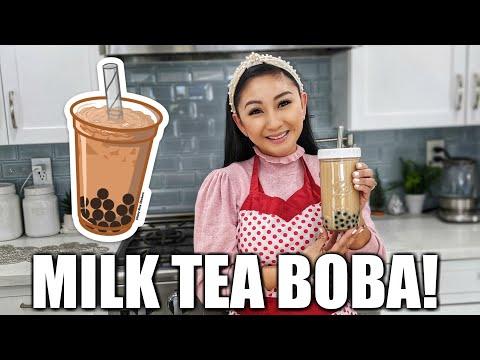 MILK TEA BOBA | HOMEMADE BUBBLE TEA!