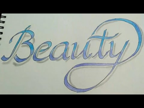 Very easy!!Double pencil calligraphy name\