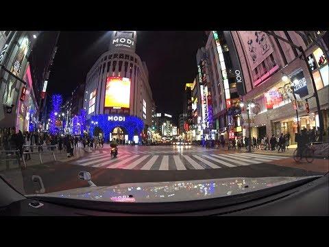 Tokyo night drive 4K 目黒 渋谷 原宿 2017