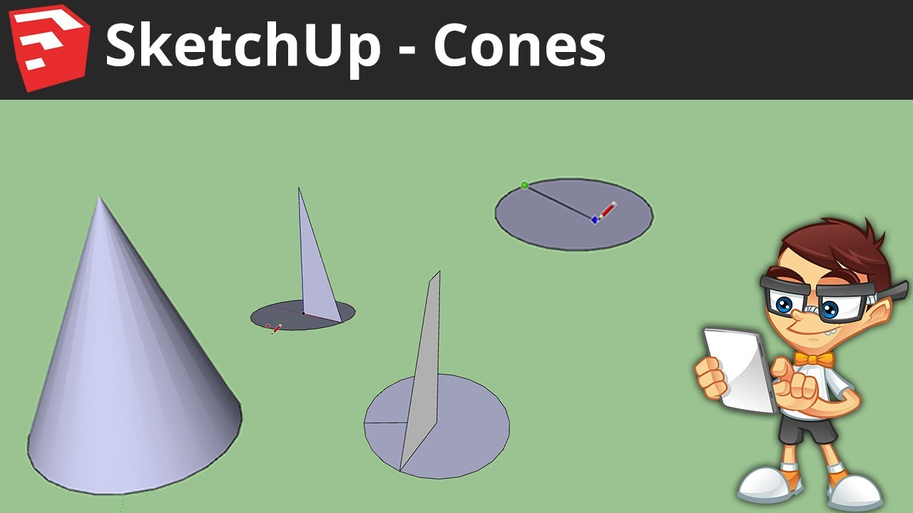 cone spiral in sketchup