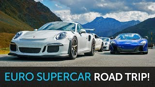 Euro Supercar Road Trip with a Cinema Premiere!