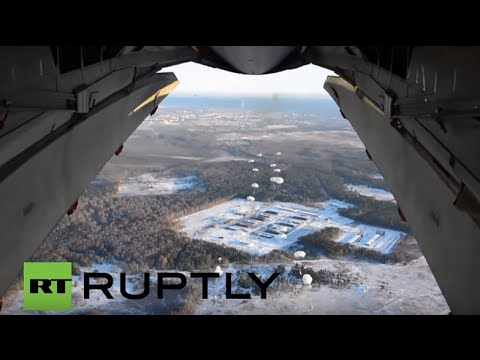 Russia: Paratroopers and vehicles participate in massive military drills