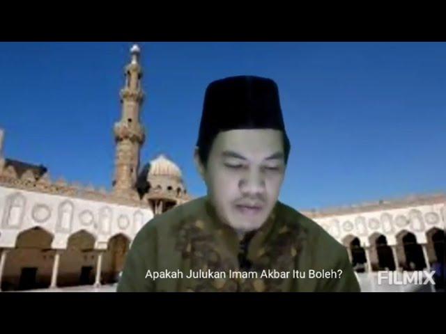 Ust. Wahyudi Sarju Abdurrahim Lc, M.M: Bolehkah Bergelar Imam Besar?