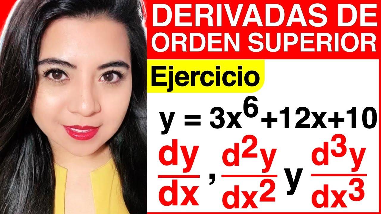 Download DERIVADAS DE ORDEN SUPERIOR - Ejercicio #2 (CÓMO SACAR LA PRIMERA, SEGUNDA y TERCERA DERIVADA)