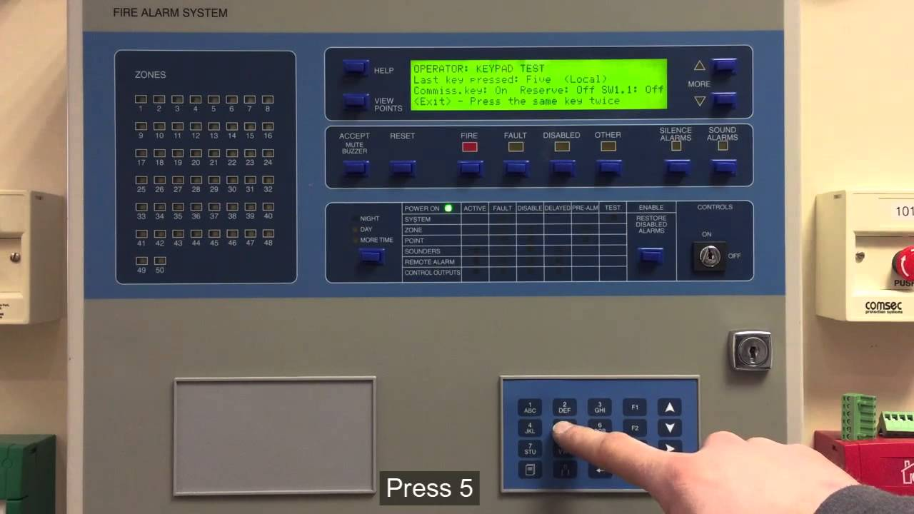 ziton zp3 fire alarm control panel  how to perform a