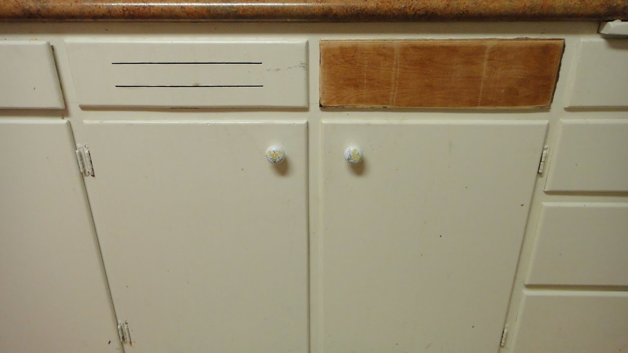 Kitchen Cabinet Wood Reconditioning How To Repair Make A Wood Cabinet Door Front Youtube