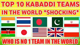 Top 10 Kabaddi Teams In The World With Ratings *Shocking* 😱 || Sports Academy ||