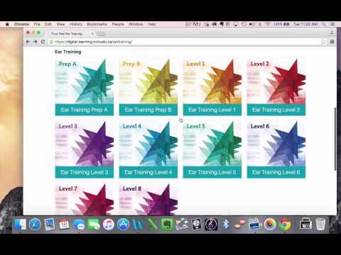 How to Set Up Online Ear Training with the RCM Four Star Books