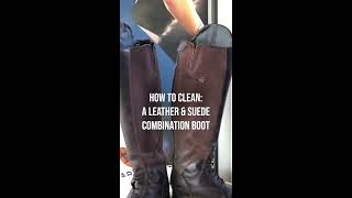 Ariat How-To: Cleaning Suede or Suede/Leather Combination Riding Boots