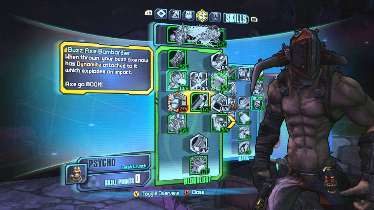 Borderlands 2  Krieg Mass Explosive Build