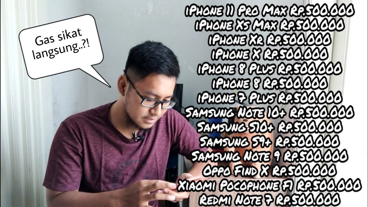 Saya Coba Beli Hp Bm Di Instagram 500 Ribu Dapet Iphone 11 Pro Max 512gb Youtube