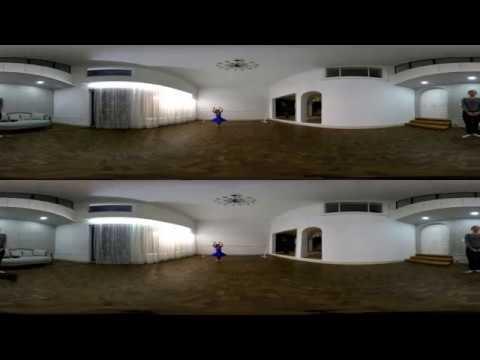 [3D 360 Top/Bottom]TwoEyes VR - Little Ballerina Girl