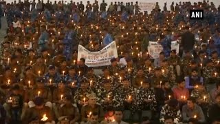 Pulwama attack: CRPF officers hold candle march in MP's Bhopal thumbnail