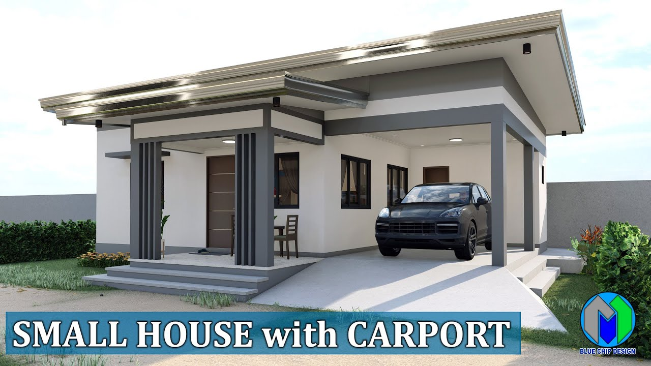 Small House Design with carport (80sqm) Elevated House
