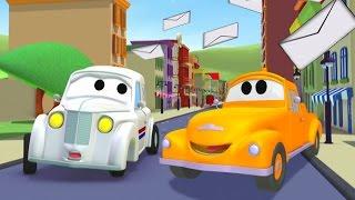 Der Streifenwagen: Peter das Postauto in Autopolis   Autos und Lastwagen Bau-Cartoon-Serie Kinder