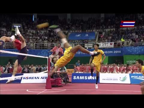 Thailand - Korea 2014 ASIAN GAMES SEPAKTAKRAW -Gold Medal Ma