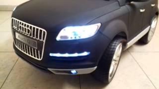 Обзор детского электромобиля Audi Q7 лицензия