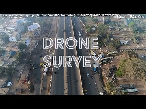 Topographic Survey using Drone & MLS for National Highways Authority of India