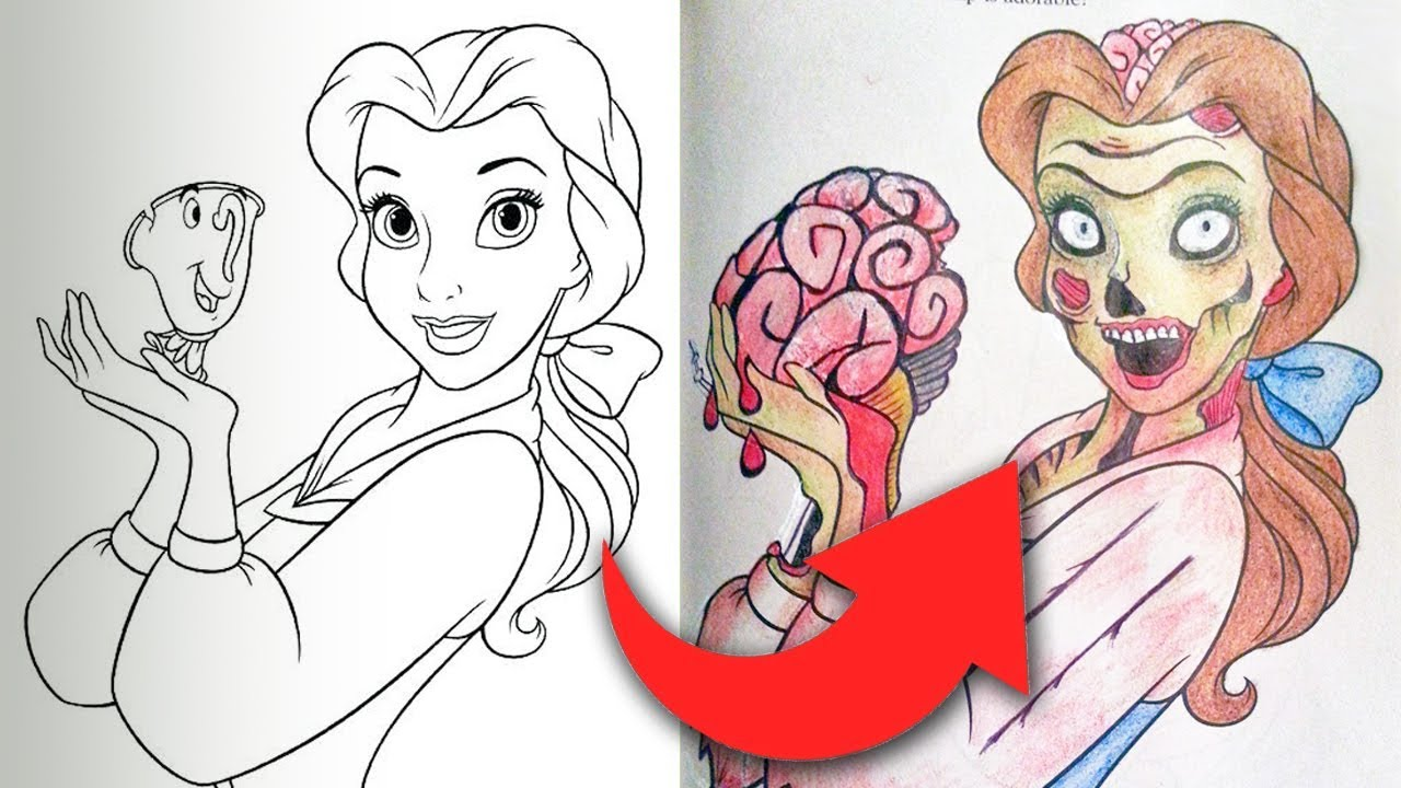 Children S Coloring Books Ruined By Adults Youtube