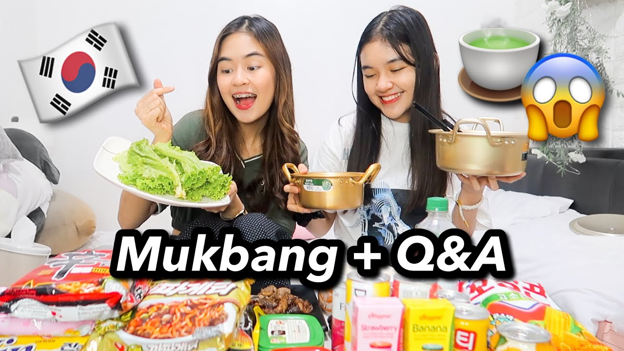 KOREAN MUKBANG + Q&A! (Ideal Man, Backstabbers & Weight) | Princess And Nicole