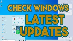 Windows 10: How to check Windows updates