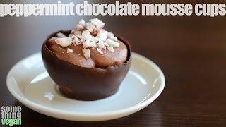 Peppermint Chocolate Mousse Cups (vegan & Gluten-free) Something Vegan