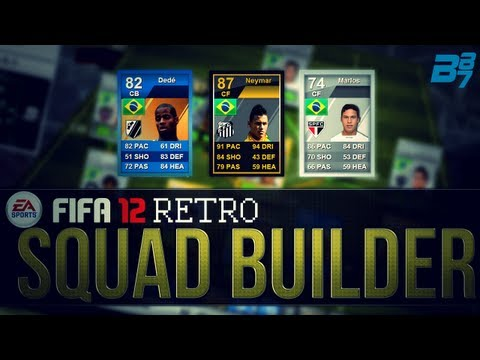 FIFA 12 Ultimate Team RETRO Squad Builder | Brazil Silver/Gold Mix! w/ 87 Neymar!