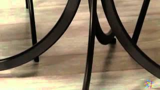 Innobella Destinay 38 In. Chocolotto Table With 4 Slat Back Folding Chairs - Product Review Video