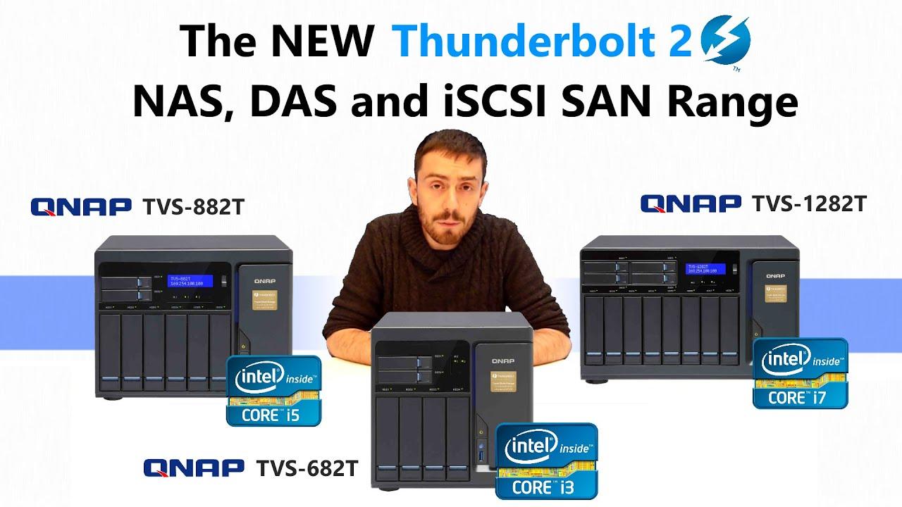 NEW QNAP Thunderbolt NAS TVS-x82T with DDR4 RAM, i7 CPU, PCIe Slots, M 2,  HDD, SSD slots