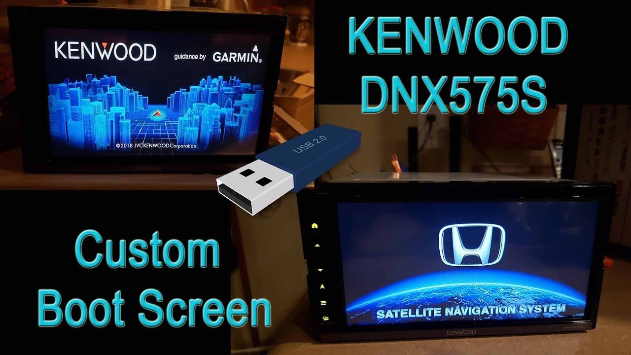 Kenwood DNX575S DNX574S Custom Boot Splash Screen How To DDX6705S