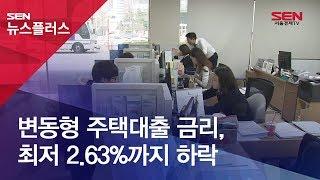 변동형 주택대출 금리, 최저 2.63%까지 하락