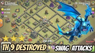 TH 9 NEW ELECTRO DRAGON ATTACK STRATEGY 2018 - CLASH OF CLANS