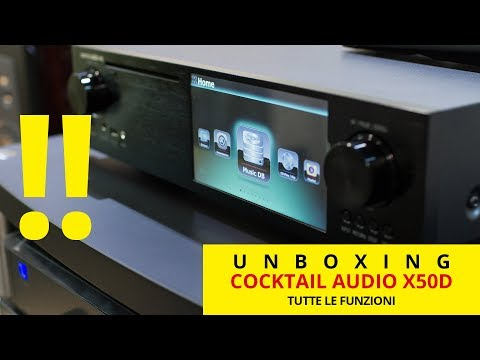 Cocktail Audio X50 Music Server, CD Ripper e Network Streamer | unboxing e spiegazione