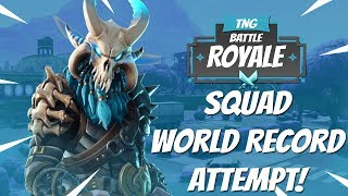 45 Kills Squads! Squad World Record Attempt | Fortnite Battle Royale Gameplay (Xbox One S) - Tendai