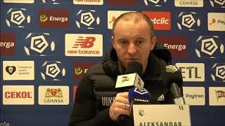 Trener Aleksandar Vuković po meczu z Lechią w Gdańsku
