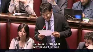 "29/4/2013 Angelo Tofalo ""Copasir e Vigilanza Rai al M5S"""