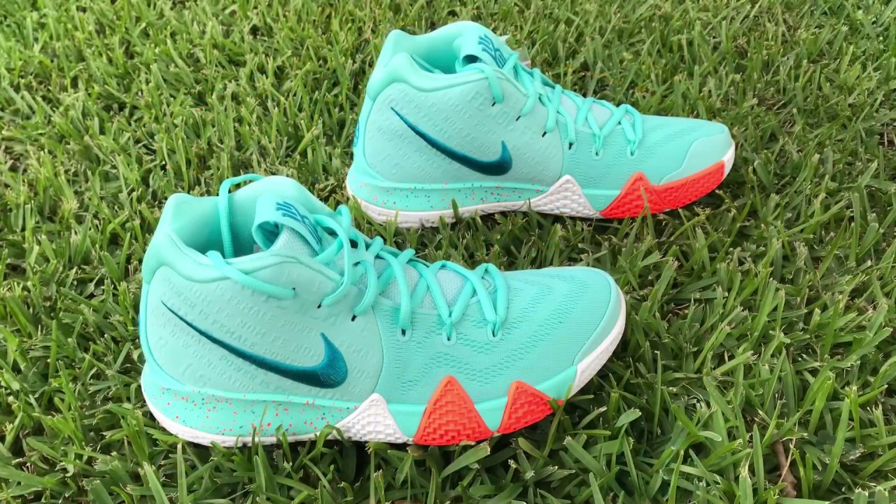 "huge selection of ae4ed 5ae53 Kyrie 4 "" Power is Female"" Aqua on Foot"