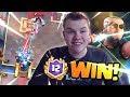 MAGIC ARCHER BROKEN?! 12 Win Prince Log Bait Deck LIVE Grand Challenge Gameplay - Clash Royale