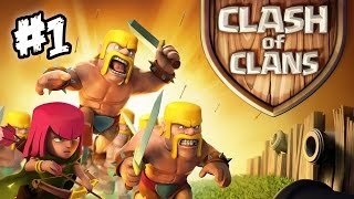 Clash of Clans #1 - Let's play Clash of Clans! | It begins!