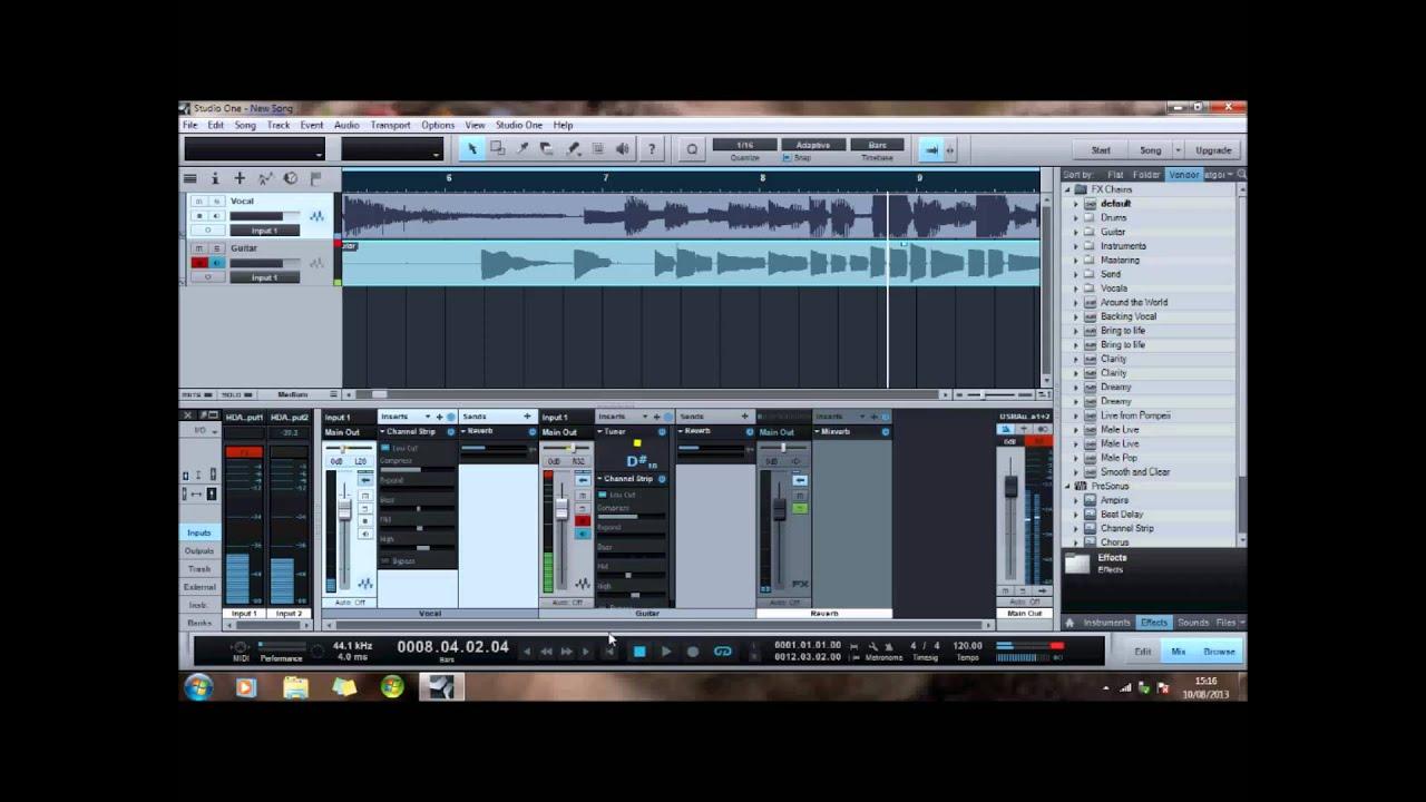 Presonus studio one tutorial for beginners (episode 1) basic.